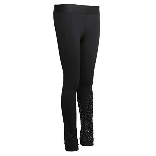 P Prettyia Medias de Patinaje sobre Hielo Femeninas Pantalones de Práctica Deportes Mujeres Accesorios - Negro, S