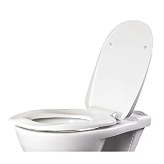 AKW Soft-Close Ergonomic Toilet Seat Urea Formaldehyde White