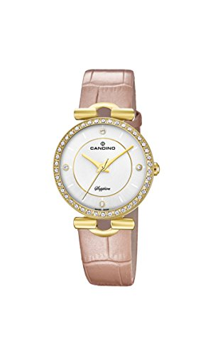Candino Damen Datum klassisch Quarz Uhr mit Leder Armband C4673/1