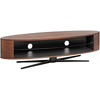 techlink ellipse el140ws walnut tv stand for up to 70 inch tvs cable management
