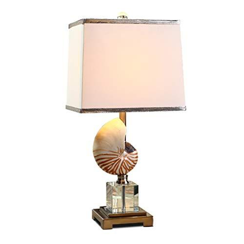 Lampe de table Salon Décor Cristal Conque Chambre Bureau Bureau Lampe Abat-jour Moderne Décoration Méditerranéenne Européenne