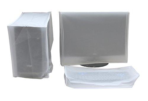 Preisvergleich Produktbild Staubschutzhülle, GRANDCOW Bildschirm + Tastatur + Midi-Tower Staubschutz-Hülle 3 Stück Set (25'' Monitor Set)