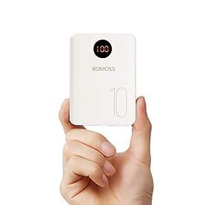 Romoss Bateria Externa para Movil, Powerbank 10000mah Cargador Portatil con Entrada L igtning Micro USB Tipo c, 2…