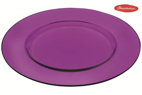 PASABAHCE Assiette Art Violet cm.35
