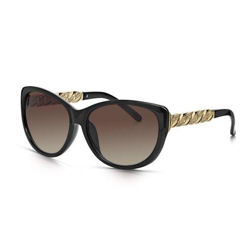 Vooglers® Lunettes De Soleil Polarisées Sunglasses Unique London Fever Polarized Uv400 Cadre Lumineux Mat Noir uWbdWG3