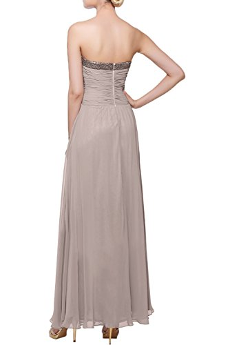 Gorgeous Bride Elegant Trägerlos Empire Chiffon Paillette Lang Abendkleider Lang Festkleider Ballkleider Daffodil