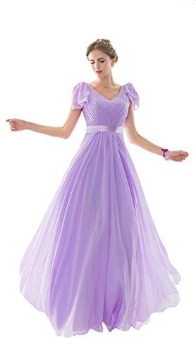 Vimans -  Vestito  - linea ad a - Donna Light Purple-Style 4