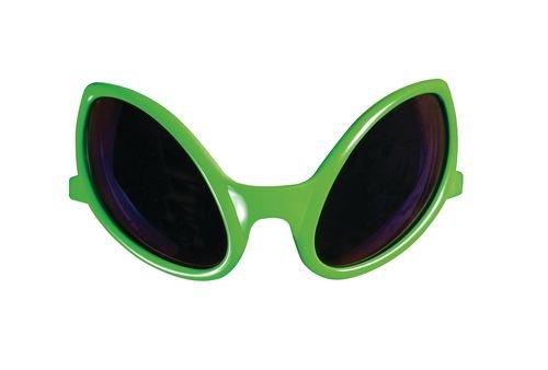 Brille Alien, Kunststoff, Grün
