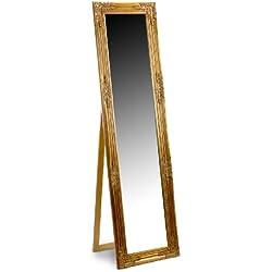 Espejo de Pie Dorado Resina 164x44 cm
