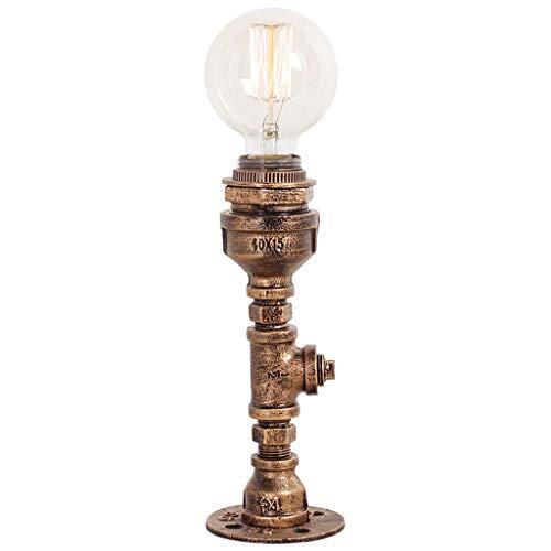 FMEZY Industriellen Stil Lesen Schreibtischlampe Vintage Tqable Lampe, E27 Edison Lichter Nacht Antike Nachttischlampe Für Cafe Bar Schlafzimmer Wohnzimmer Dekoration (Farbe: Bronze) - Antik-nacht-licht