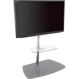 AVF 39078Iseo Freitragende TV-Ständer für bis zu 70TVS, transparent/Silber
