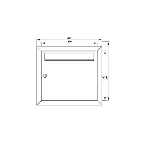 MOCAVI UP1 Edelstahl Unterputz-Briefkasten, Qualitäts-Postkasten unter Putz aus deutscher Fertigung, Einbau-Edelstahlbriefkasten - 7
