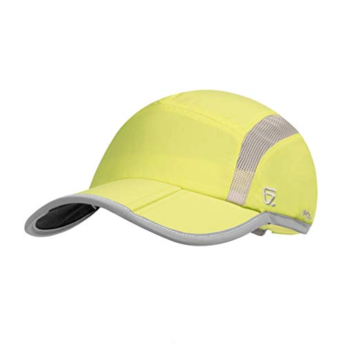 GADIEMKENSD Quick Dry Sports Hat Lightweight Breathable Soft Outdoor Run cap (Folding Series, Fruit Green)
