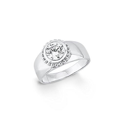 s.Oliver Damen-Ring 9 mm 925 Silber rhodiniert Zirkonia weiß Gr. 56 (17.8) - 567374