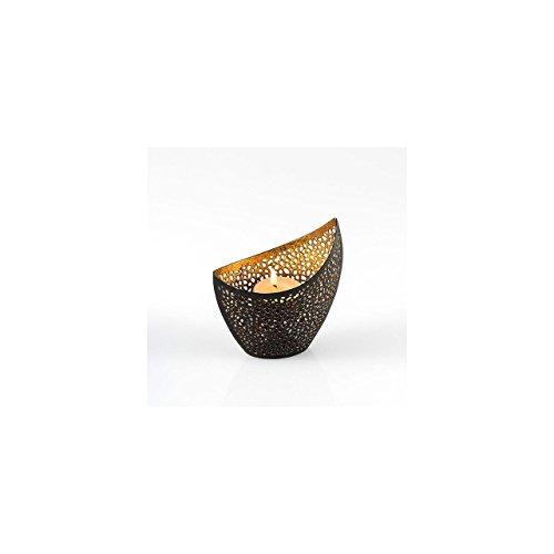 Pajoma 30016 Teelichthalter Samara, Metall, Höhe 11,5 cm