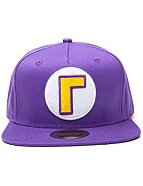 Meroncourt Nintendo Super Mario Bros. Waluigi Logo Snapback Baseball Cap, One Size, Purple (Sb092402Ntn), Gorra...