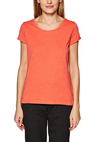 edc by ESPRIT Damen 999CC1K802 T-Shirt Rot (Coral 3 647) Large (Herstellergröße: L)