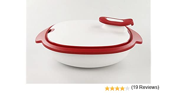 Tupperware Thermo-Duo 2,25 L rouge blanc servir garder au chaud Warmie Tups Iso-Duo