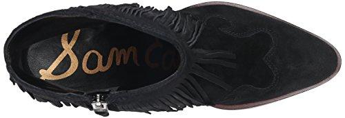 Tronchetto texano con tacco Sam Edelman Benjie in camoscio nero Nero