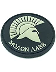 Molon Labe Centurion Airsoft Velcro Patch Negro