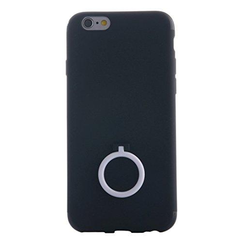 Phone case & Hülle Für iPhone 6 Plus / 6s Plus, Ultra Thin Soft TPU Schutzmaßnahmen zurück Fall Fall mit Ring Halter Stand ( Color : Pink ) White