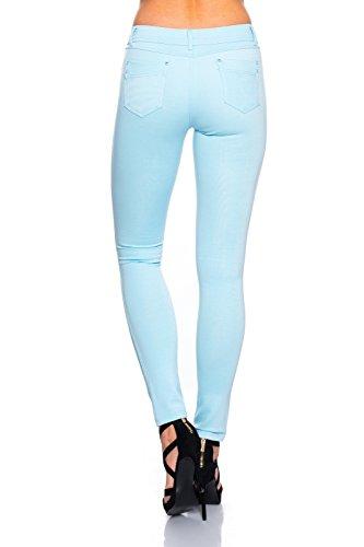 Modische Damen Jeggings Leggings Hüfthose Stretch Slimfit , Sehr bequem Hellblau