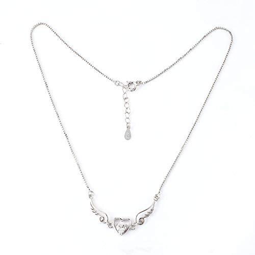 Lovelysunshiny Colgante de Collar de Mujer Collar de corazón de ángel Accesorio de Boda joyería