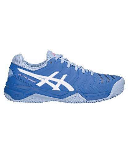 ASICS Damen Gel-Challenger 11 Clay Tennisschuhe, Blau (Electric Blue/White 400), 40.5 EU