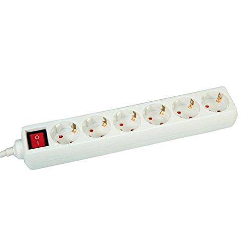 Preisvergleich Produktbild Value 6-fach Steckdosenleiste mit Schalter, 6 m, 1 Stück, weiß, 19991067