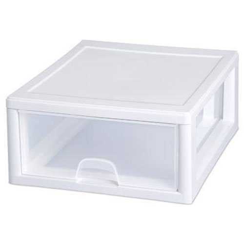 Sterilite 23018006 16 Quart Stacking Drawer, Clear -