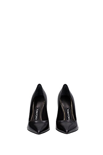 214W0991TNAGBLG Tom Ford Talon Femme Cuir Noir Noir