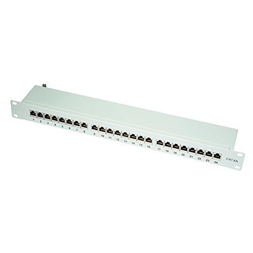 LogiLink Professional PrimeLine Cat.6A (500 MHz) Patchpanel grau, 19
