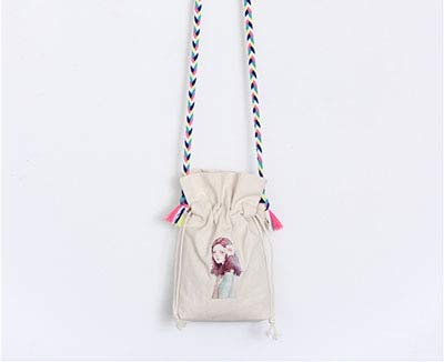 Romantic-Z Neue Frauen Mini Leinwand Taschen Feste Tote Beiläufige Umhängetaschen Damen Quaste Crosssbody Taschen Hochwertige Handtaschen, 4 - 4 Taschen Tote-leinwand-tasche
