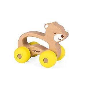 Janod - Osito Baby Pop Animal de madera para Pasear (J04613)