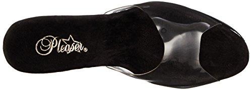 Pleaser Flamingo-801ls, Sandales Bout Ouvert Femme Transparent (Clr/Blk)