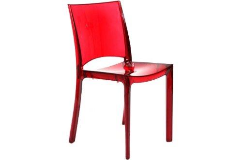 Sedia trasparente policarbonato rosso confronta prezzi.