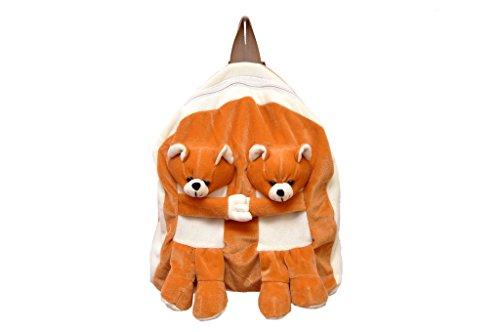 Vpra Mart Brown Twins Bear Soft Toy Bag