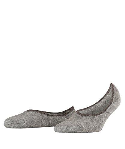 Merino Wolle Quarter Socken (FALKE Damen Ballerina Stoppersocken ABS Merino-Mischung Sohle 1 Paar Leichte, wärmende Füßlinge, Blickdicht, Light greymel, 39-40)