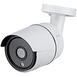 Caméra IP en PoE,1.3 Megapixels 960P HD, alimenter par PoE (IEEE802.3af) ou DC12V, Infrarouge(IR) Bullet Jour/Nuit, IP66 pour intérieur et extérieur.