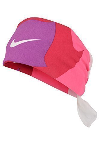 Price comparison product image 1 x Nike Swoosh Top End Unisex Headband Bandana Hat (AC0339 102) (Pink / Red / Purple / White)