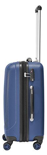 Packenger Velvet Koffer, Trolley, Hartschale 3er-Set in Atlantikblau, Größe M, L und XL - 5