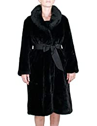 Kocca Cappotto Donna in Pelliccia Ecologica Orbit Colore Nero Collezione   Autunno-Inverno 2018  37e8c0963c0