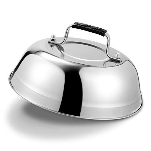 HOUSE AGAIN Schmelzkuppel für Käse - 2,5 mm Dicke Edelstahlgrill-Zubehör - langlebiges - Grill Glocke