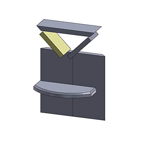 Flamado Heizgasumlenkplatte Links/rechts 200x130x30mm (Vermiculite)