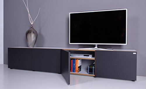 TV Lowboard NOOMO weiß - anthrazit