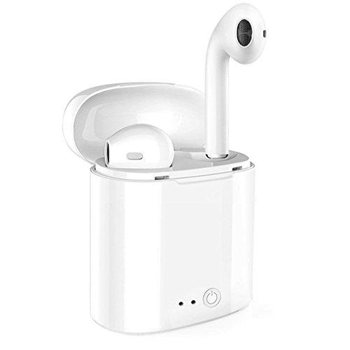 Drahtlose Ohrhörer, Bluetooth Kopfhörer Mini In-Ear Headsets Sport Kopfhörer mit 2 True Wireless Ohrhörer für iPhone X/8/7/6/6s plus und die meisten Android SmartPhones