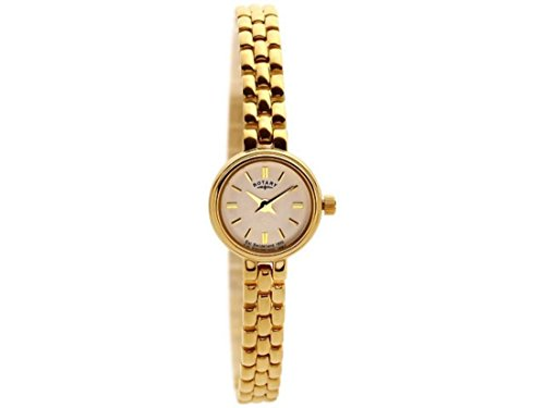Rotary Women's Quartz Watch with Champagne Dial Analogue Display and Gold Stainless Steel Bracelet LB02543/03