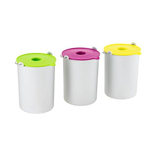 H.koenig bo325 set ciotole per gelateria hf250, 1.5l, 3 pezzi, alluminio