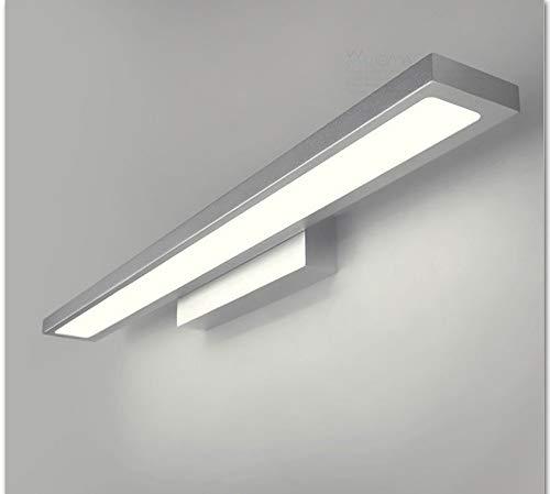 LZY Mode Kreativität der europäischen Kreation Minimalist Room Fog Mode Led Taschenlampe wasserdicht auf den Test und Feuer vor dem Spiegel Spiegel weiß,Silber-90cm,