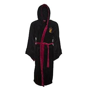 Negro Harry Potter Gryffindor Cresta de los Hombres con Capucha Bata